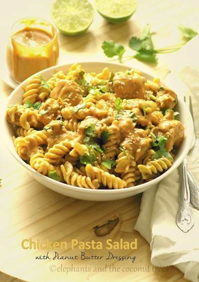 Thumbnail for Chicken Pasta Salad with Peanut Butter Dressing