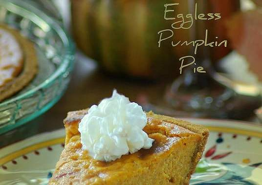 eggless pumpkin pie