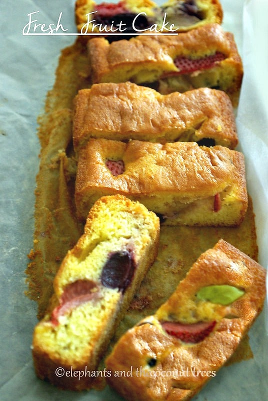 Fresh fruit cake,Baked goods