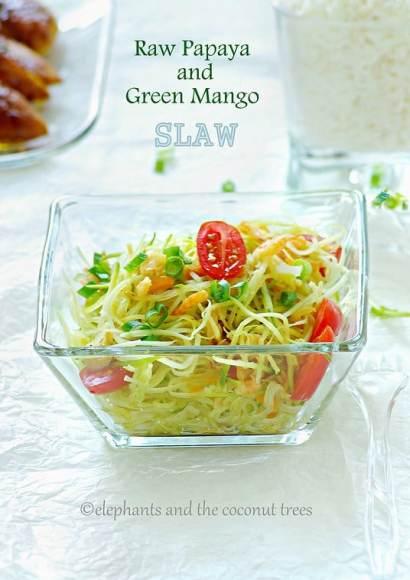 Thumbnail for Raw Papaya and Green Mango Slaw