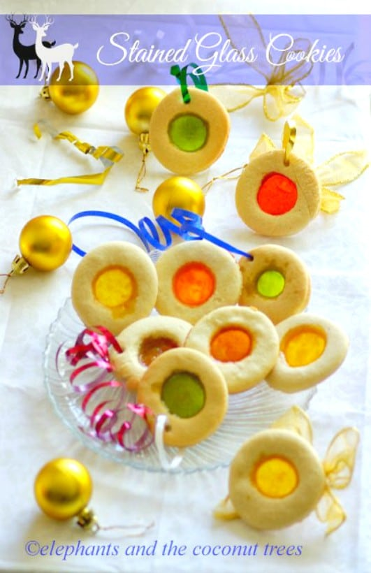 Stained glass cookies,Baked goods