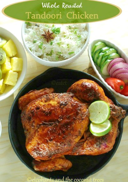 Thumbnail for Whole Roasted Tandoori Chicken – with step by step pictures