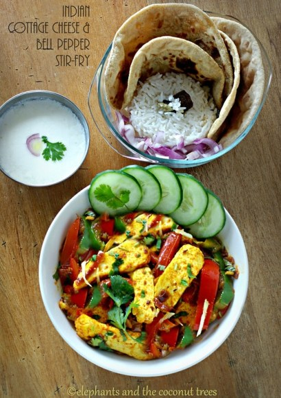 Thumbnail for Paneer Jalfrezi / Indian cottage cheese & bell pepper quick stir-fry