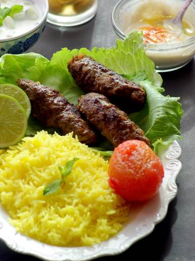 pan grilled kabab, Kabab, beef kabab