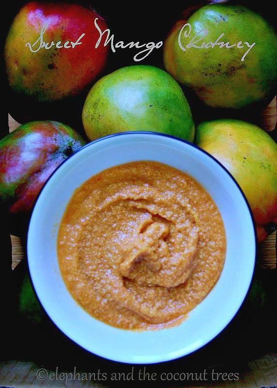 Sweet mango chutney ,Dips and pickles
