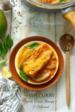 porgy fish curry with raw green mango and coconut