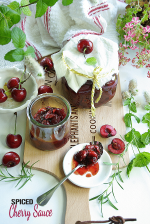Spiced cherry sauce made in instant pot