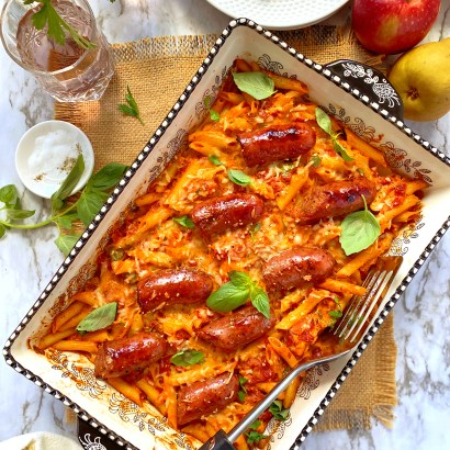 Thumbnail for Chicken sausage with penne pasta