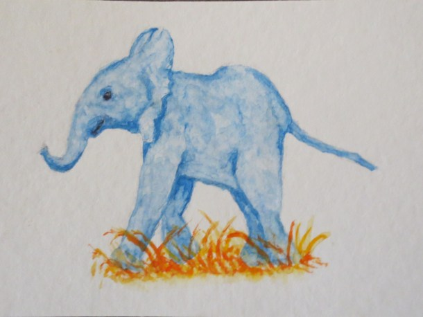 elephant art addison blue baby elephant walking left facing (1)