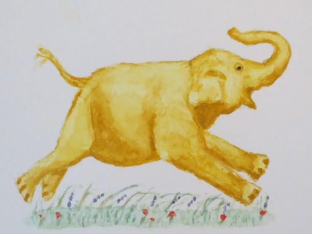 Elephant paintings watercolor Addison Elephant Free Peanuts