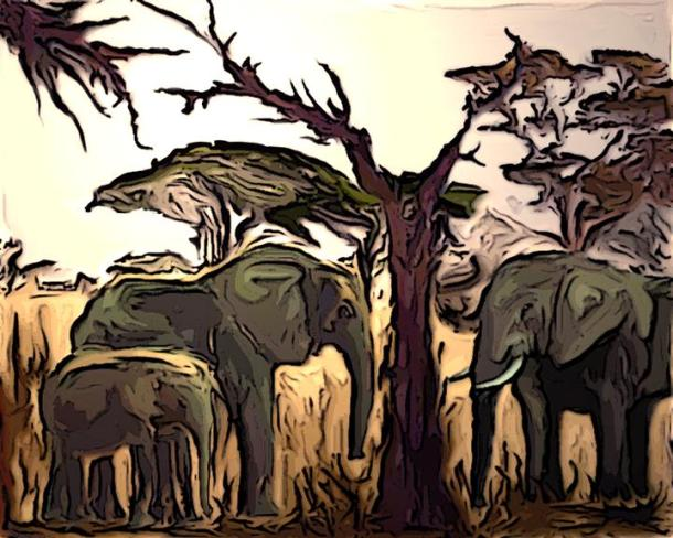 Elephants painting Tree maybe use Ele of Week Into the Wild by Paingrin CC Flickr
