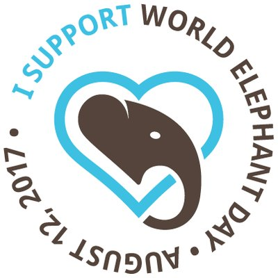World elephant day 2017 logo from wrldelephantday twitter