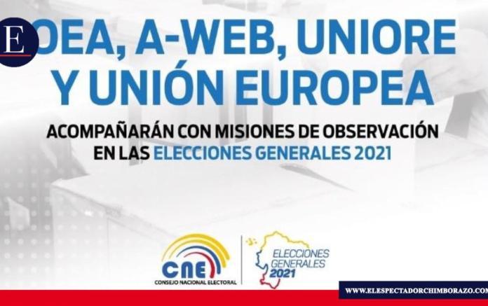 OEA, A-WEB, UNIORE y Unión Europea acompañarán con Misiones de Observación las Elecciones 2021. Foto/ Fuente: @cnegobec/ Twitter.