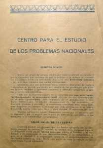 Centro para el Estudio de los Problemas Nacionales