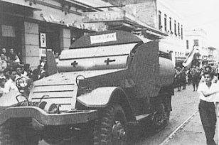 Vehículo blindado usado en la revolución, 1948