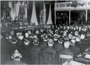 Acto de juramentación de Rafael Ángel Calderón Guardia