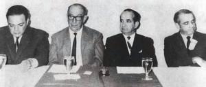 Monge, Orlich, Figueres y Oduber.