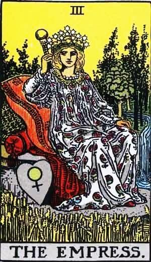 la emperatriz del tarot rider-waite