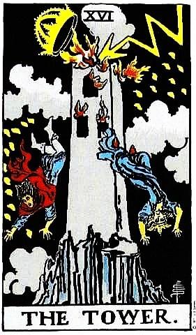 Tarot16 O LA TORRE HERIDA POR EL RAYO