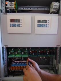 Quadro elettrico automazione caldaia hotel