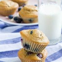 Gyümölcsös muffin zabliszttel, cukor nélkül