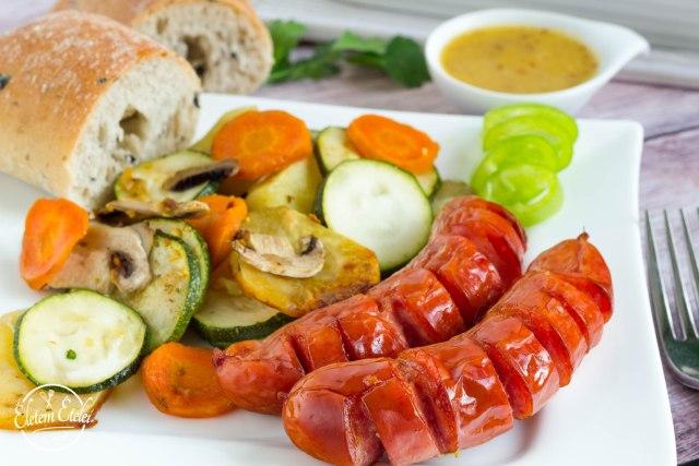Kolbász zöldségek (1)