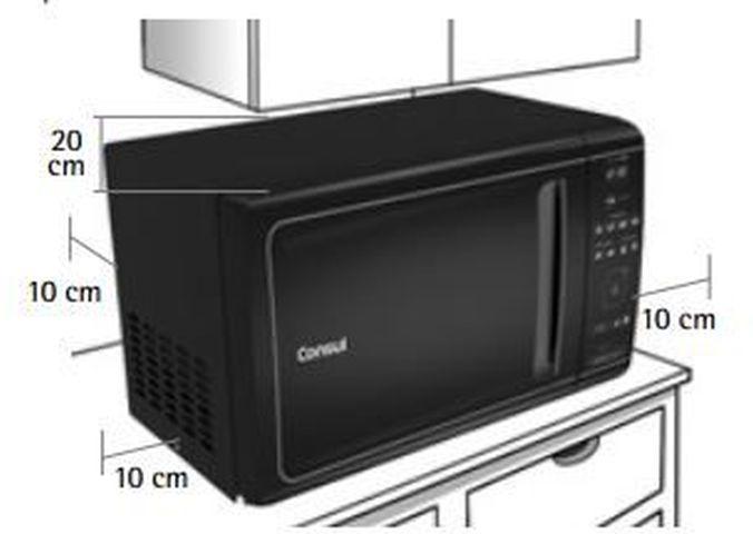 Local da Instalação do Micro-ondas Consul 20 litros Mais com função tostex - CME20AY
