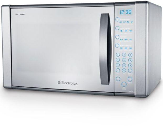 Como ajustar o relógio do Microondas Electrolux 31 litros Blue Touch Espelhado Grill MEC41