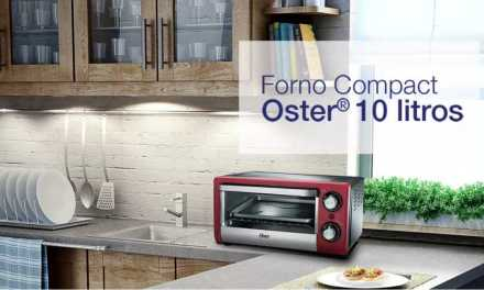 Medidas do Forno Elétrico Oster 10L Compact Vermelho