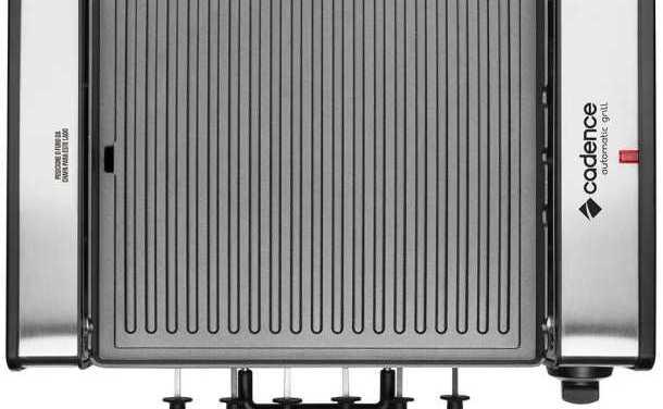 Medidas da churrasqueira elétrica Cadence Automatic Grill – GRL700