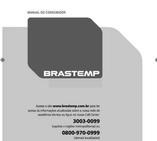 Manual de instruções do forno Brastemp