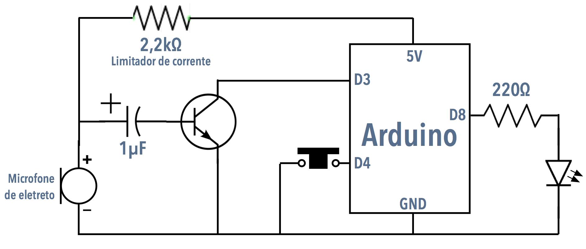 Arduino 5 Resistores De Pull Up Eletronica Para Artistas