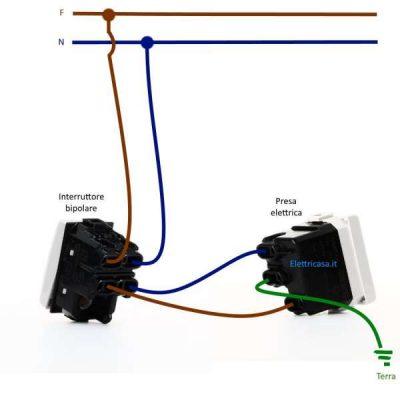 Schema Elettrico Presa Interruttore Lampadina : Come collegare un interruttore bipolare elettricasa