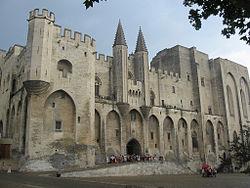 Utazás lakóautóval Avignon Pápai Palota régen