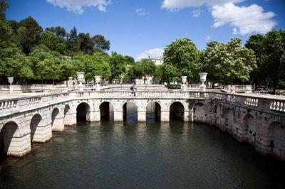 Utazás lakóautóval Avignon - Nimes, Jardin de Fontaine