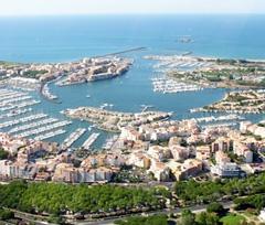 Utazás lakóautóval Béziers - Cap d'Agde, felülről