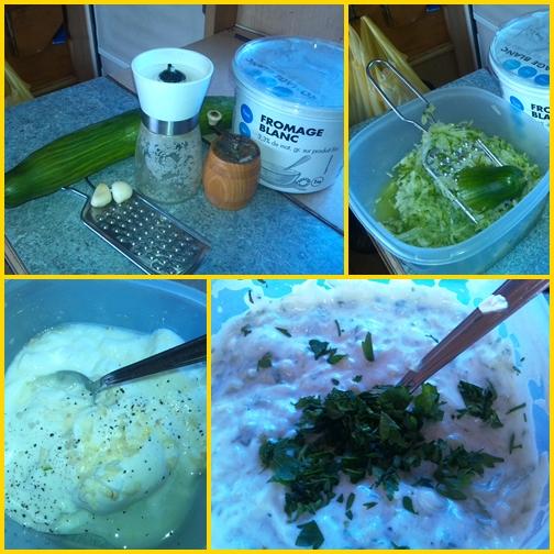 Saláták - tzatziki recept képekkel, elkészítés lépésről lépésre