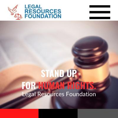 Legal Resources Foundation, Web Design Zambia, Elev8 Marketing, Websites by Elev8 Marketing