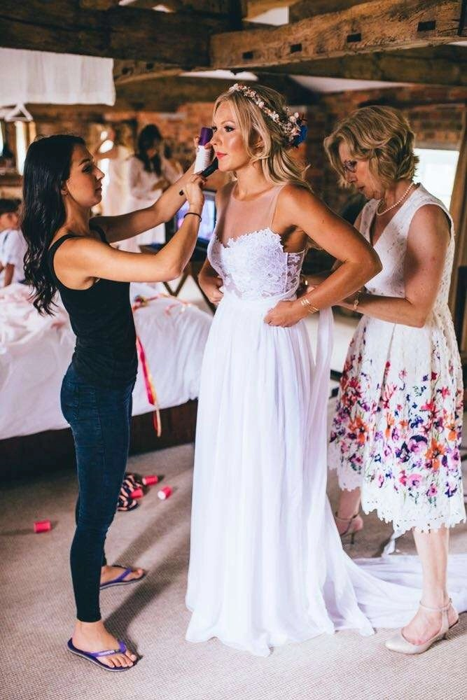 cambridgeshire wedding bridal hair with fresh flowers