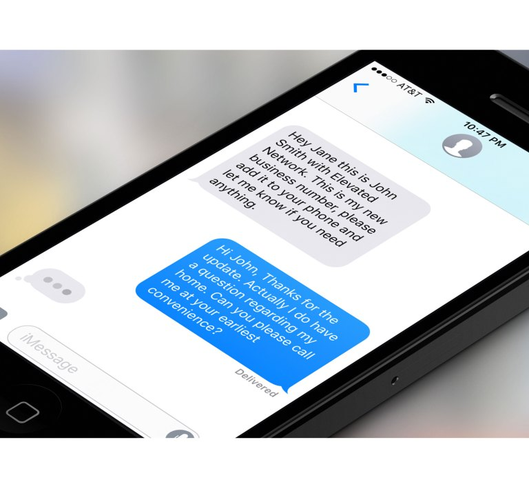 iPhone with text messages
