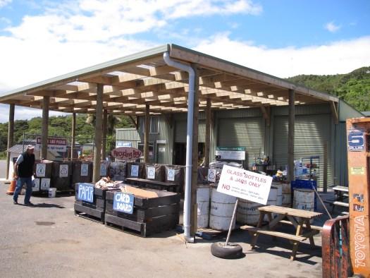 New Zealand's Pillars of Wellness Sustainability  sorting area at Xtreme Zero Waste