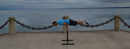Lever training on the waterfront