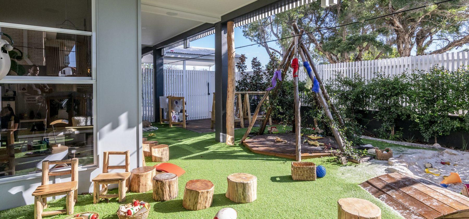 Donaldson Street Childcare Exterior Play area