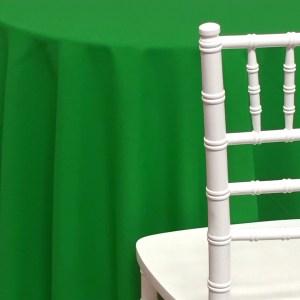 Green Poly Cotton Linen