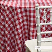Red & White Checkered Linen