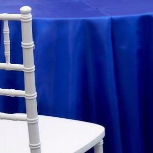 Royal Blue Satin Linen