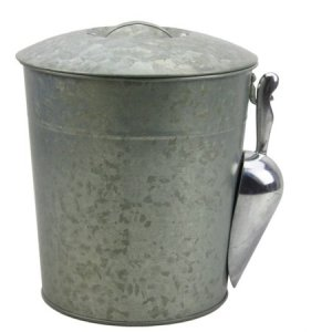 Galvanized Metal Ice Bucket