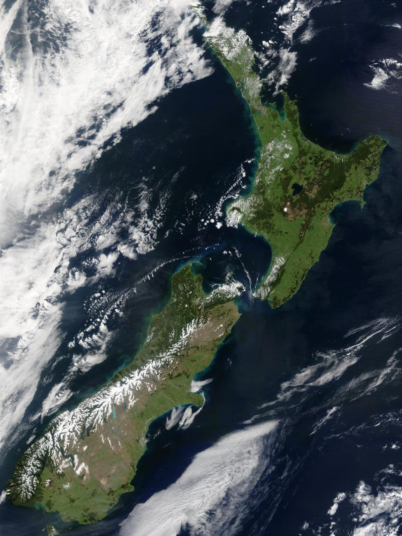 New Zealand from space - eliminate coronavirus