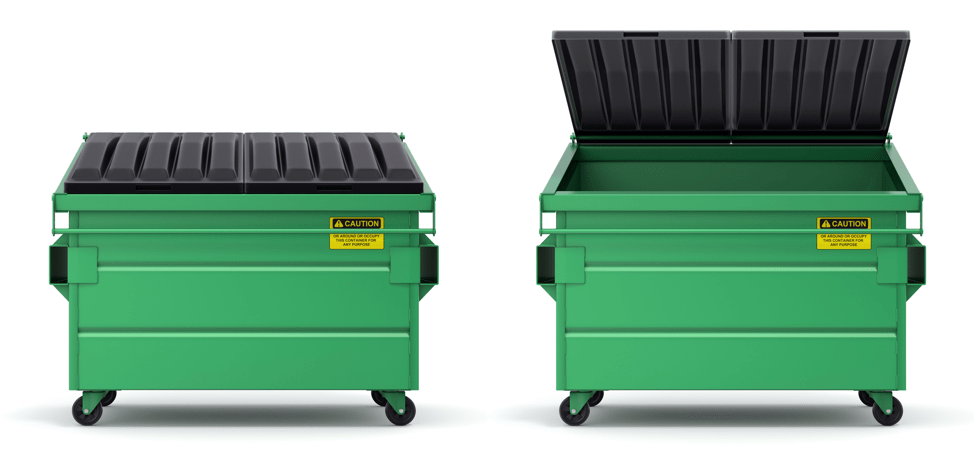 Two dumpsters - take out the trash