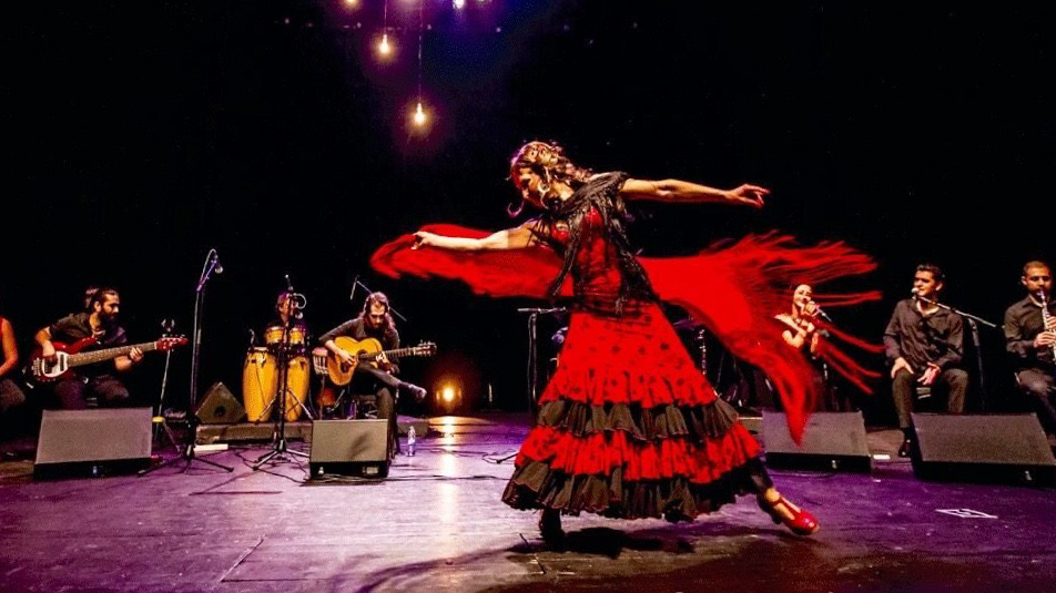 Kati La Zingara performing flamenco - in Seville